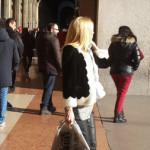уличная мода зимой