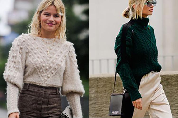 с чем носить свитер фото