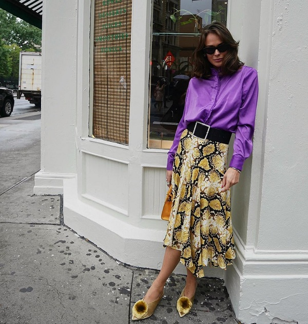 сочетание цветов в одежде для женщин фото