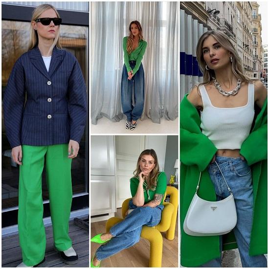 сочетание зеленого цвета фото